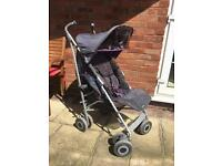 Maclaren techno xlr pushchair in grey/purple majesty