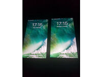 2 IPHONES 7 PLUS -32/256 GB BLACK LIKE NEW FULL BOX