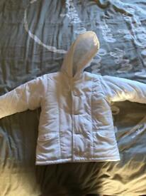 Boys white danni jacket