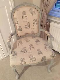Shabby Chic French Louis armchair