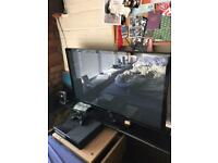42 INCH TV, XBOX ONE, TV STAND