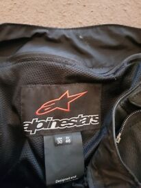 ALPINESTARS BIKER MISSILE TROUSER SIZE REAL LEATHER USA 40 EU 46*ALMOST NEW*