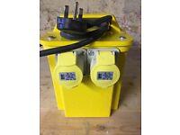 110V 3KVA power tool 2 socket transformer - as new