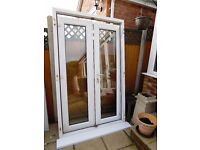 WHITE UPVC DOUBLE GLAZED FRENCH DOORS