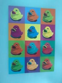 Multicoloured duck picture
