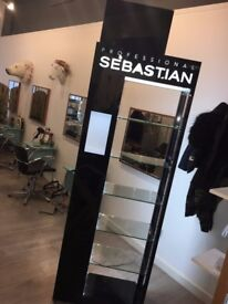 Black Sebastian hair product stand £120