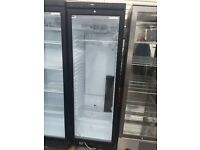 Black Autonumis Single Glass Door Shop Display Drinks Fridge / Chiller