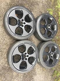 "18"" 5x112 VW Golf MK5 Mk6 GTI Monza 18 inch wheels - black"