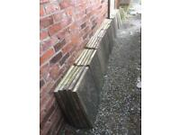 50 x BUFF RIVEN PAVING SLABS £100 or £2 EACH