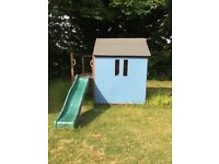 Wooden play house without slide