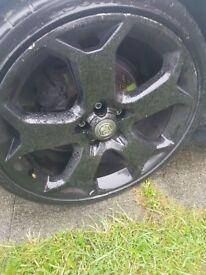 5 stud Vauxhall 19inch alloys