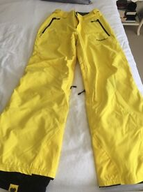 Mens O'NEILL Yellow Ski Salopettes - Size Small - Regular Fit