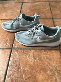 UK 9 Nike trainers, Grey and White £20