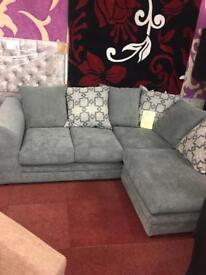 Velvet corner sofas