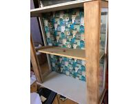 Oak and glass unit up cycled £10 for a quick sale
