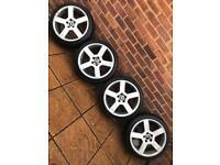 "5x108 18"" Volvo R Design alloy wheels C30 V50 V70 Ford Focus Mondeo Jaguar"