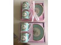 Espresso cup and saucer sets