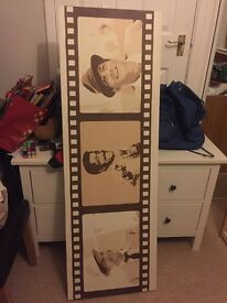 Shelfing. Canvases. Faux leather DVD holder