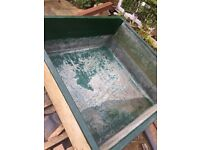 FIBRE GLASS POND 63 X 63 X 26 INCHES REFURBISHED - KOI GROWING ON POND