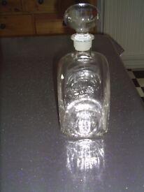 Heavy glass decanter