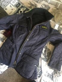 Barely worn purple Barbour jacket size 8