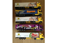Motorised articulated toy lorry collection (5 in total)