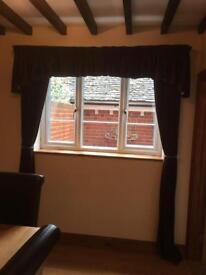 Brown Draylon curtains
