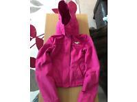 Pink hollister jacket