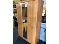 Large wardrobe with mirror- great condition