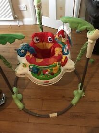Fisher price jumparoo/ baby boy clothes for sale