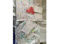 Baby uplight light shade and curtains brand new in packaging