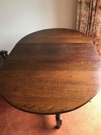 Oval oak table circa 1920