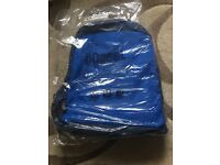 Brand new in wrapper Blue and black laptop rucksack