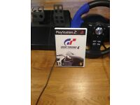 Steering wheel for ps2 with a Racing game