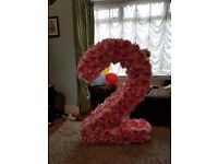 Handmade decoration large number for birthday party. height 1 miter.