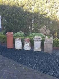 Shabby chic chimney pots/ planters
