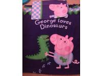 George peppa pig single duvet cover bedding