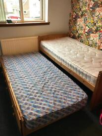 2 x single mattresses (£30each)