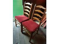 6 Ecrol ladder back dining chairs