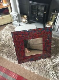 Red blue stunning mirror from Bali from red ghetto keswick