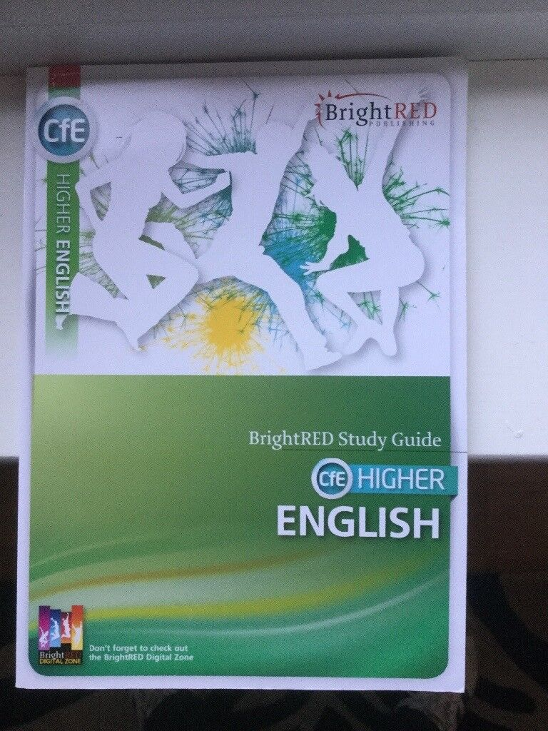 Higher English study guide by Bright Red publishing.