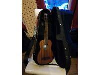 KALA Solid Mahogany Ukulele Bass Guitar - SMHG-DS-FS Fretted