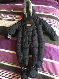 Baby boys all in one pramsuit / snowsuit
