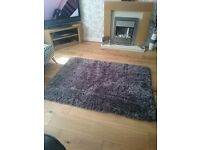 LARGE CHARCOAL GREY SPARKLE RUG FROM NEXT SIZE 150X100CM COST £80