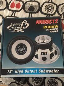 Lanzar 2000 watt subwoofer speaker