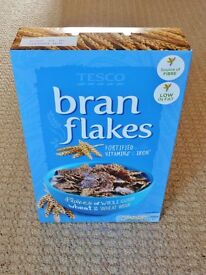 New and Unopened Pack of 500g Tesco Bran Flakes Breakfast Cereal