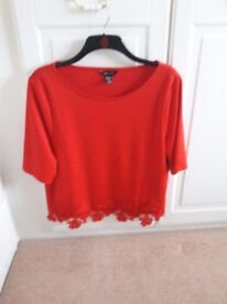 Red Top for Xmas Parties size 16