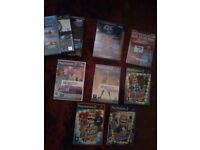 playstation 2 console with accessories, singstar,buzz, and various games