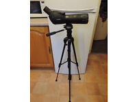 Maginon spotting scope, 20 to 60 magnification. Comes with good quality tripod.