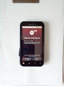 Motorola smartphone. Motoblur defy, open to any network, excellent condition.